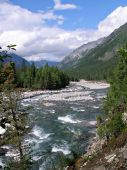 Mountain river Shumak, Siberia