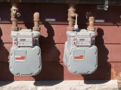 Exterior Wall Natural Gas Consumption Meters