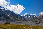 Glacial Moraine Aoraki Mt Cook Hooker Valley Nz