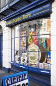 LONDON, UK - APRIL 15, 2014: London Beatles Store located on Baker Street, selling products and memo