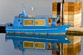 Greek small ship at lake Kerkini in Greece