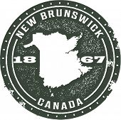 Vintage Style New Brunswick Canada Stamp