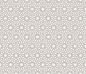 image of symmetry  - Background with seamless pattern in islamic style - JPG