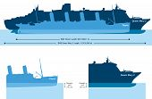 Titanic And Queen Mary 2 - Size Comparison And Draft