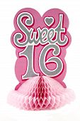 pic of sweet sixteen  - 16th birthday centerpiece against a white background - JPG