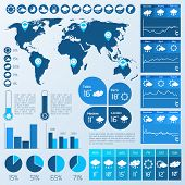 Weather infographic blue