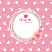 stock photo of queen crown  - Princess Crown  Background Vector Illustration - JPG