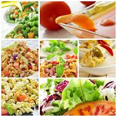 picture of mimosa  - a collage of different salads - JPG