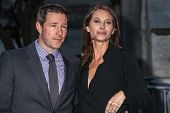 NEW YORK, NY - APRIL 23: Christy Turlington Burns and Edward Burns attend the Vanity Fair Party duri