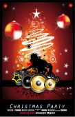 pic of christmas party  - Christmas party night with high contrast background - JPG