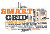foto of smart grid  - Word Cloud with Smart Grid related tags - JPG