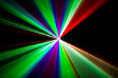 picture of laser beam  - Colourful Laser beams shooting in all directions - JPG