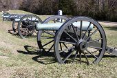 Civil War Cannon on Battlefield in Vicksburg Military Park