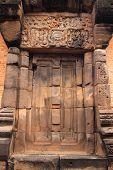 castlecastle door at Wat sa kam phaeng yai castle