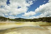 stock photo of boiling point  - Hot springs natural park in Rotoroa - JPG
