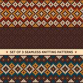 Set of 3 knitting patterns