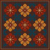 Vector Illustration Of Folk Seamless Pattern Ornament. Ethnic Ornament