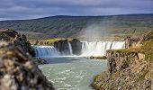 Waterfall Landscape In Iceland