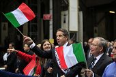 Andrew Cuomo & Scott Stringer with flags