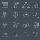 SEO icons set outline