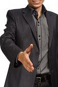 Businessman Holding Hand For Handshake
