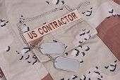 Us Contractor Uniform With Dog Tags