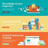 Постер, плакат: Flat design vector illustration concepts for online education online professional training courses