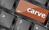 Carve Button On Computer Pc Keyboard Key