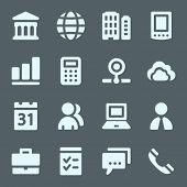Business web icons set