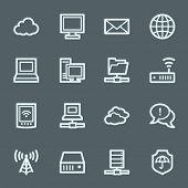 Cloud computing & internet icons set