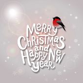 Christmas Typographic Label For Xmas And New Year Holidays Design