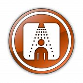 Icon, Button, Pictogram Shower