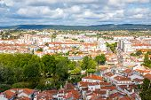 aerial view Old Town Tomar, Portugal