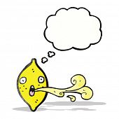 image of squirt  - cartoon squirting lemon - JPG