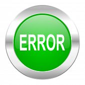 error green circle chrome web icon isolated