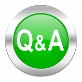 question answer green circle chrome web icon isolated