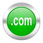 com green circle chrome web icon isolated