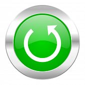 rotate green circle chrome web icon isolated