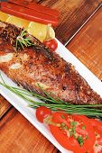 foto of sunfish  - savory on wood - JPG