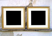 picture of passed out  - Blank picture frames with passe - JPG