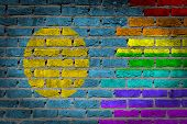 Dark Brick Wall - Lgbt Rights - Palau