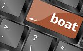 Boat Button On Computer Pc Keyboard Key
