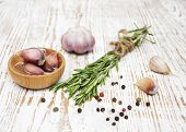 Rosemary, Pepper And Garlic
