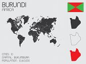 Set Of Infographic Elements For The Country Of Burundi