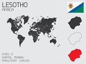 Set Of Infographic Elements For The Country Of Lesotho