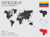 Set Of Infographic Elements For The Country Of Venezuela