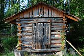 image of outhouses  - Wooden shack in Finland - JPG