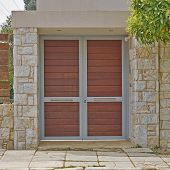Modern house door, Athens Greece