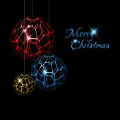 Abstract Vector christmas decorations - christmas card
