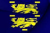 Flag Of West Friesland, Netherlands.